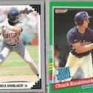 CHUCK KNOBLAUCH 1991 Leaf #396 + Donruss Rated Rookie #421.