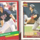CHUCK KNOBLAUCH 1991 Donruss The Rookies + Topps Traded