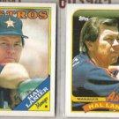 HAL LANIER 1988 + 1989 Topps.  ASTROS