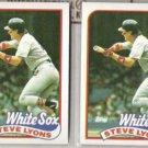 STEVE LYONS (2) 1989 Topps #334.  WHITE SOX