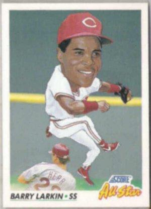Barry Larkin 1991 Score As Big Head 775 Reds
