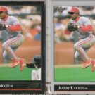 BARRY LARKIN 1992 Leaf Black GOLD Insert w/ sister.  REDS