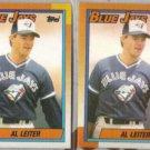 AL LEITER (2) 1990 Topps #138.  BLUE JAYS