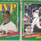 KEVIN MITCHELL (2) 1991 Donruss #407 + #438.  GIANTS