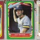 PAUL MOLITOR (3) Fleer Star Stickers 1986, 87 + 88.  BREWERS