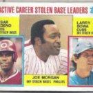 JOE MORGAN 1984 Topps SB Leaders #705 w/ Bowa. PHILLIES