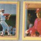 JOE MORGAN (2) 1984 Fleer mini Stickers #100 + #120.  PHILLIES