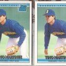 TINO MARTINEZ (2) 1992 Donruss Rated Rookie #410.  MARINERS