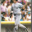EDGAR MARTINEZ 1993 Donruss Dominators Insert.  MARINERS