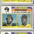BILL MADLOCK (3) 1982 Topps #696 / B. Solomon.  PIRATES