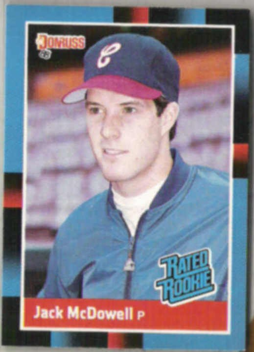 jack mcdowell 1988 donruss rated rookie  47  white sox