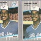 FRED McGRIFF (2) 1989 Fleer #240.  BLUE JAYS