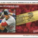 MARK McGWIRE 2000 Upper Deck Victory Bat Contest Card.  CARDS
