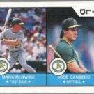 MARK McGWIRE 1990 US Playing Card Co. w/ Canseco.  Wild  A's
