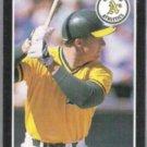 MARK McGWIRE 1989 Donruss Best #43.  A's