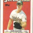 MARK McGWIRE 1988 Topps Star mini Sticker #36.  A's
