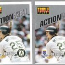 MARK McGWIRE (2) 1993 Triple Play Fold Outs
