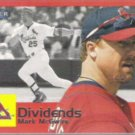 MARK McGWIRE 2000 Fleer Tradition Dividends Insert.  CARDS