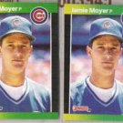 JAMIE MOYER (2) 1989 Donruss #157.  CUBS