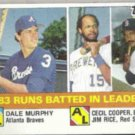 DALE MURPHY 1984 Topps Leaders w/ J. Rice #133.  BRAVES