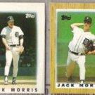 JACK MORRIS 1986 + 1987 Topps mini Lot.  TIGERS