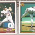 JACK MORRIS 1991 Topps + 1991 Traded.  TIGERS / TWINS
