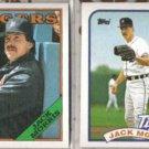JACK MORRIS 1988 #340 + 1989 Topps #645.  TIGERS