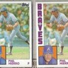 PHIL NIEKRO (2) 1984 Topps #650.  BRAVES