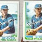 PHIL NIEKRO (2) 1982 Topps #185.  BRAVES