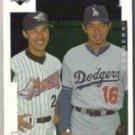 HIDEO NOMO 1998 Upper Deck #7 w/ Hasegawa.  DODGERS