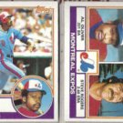 AL OLIVER 1983 Topps #420 + #111 w/ S. Rogers.  EXPOS