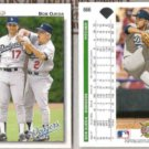 BOB OJEDA (2) 1992 Upper Deck #666 w/ LaSorda.  DODGERS