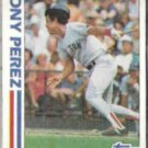 TONY PEREZ 1982 Topps In Action #256.  RED SOX