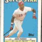 DAVE PARKER 1988 Topps mini Superstar Sticker #19.  REDS