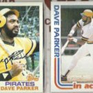 DAVE PARKER 1982 Topps #40 + #41 In Action.  PIRATES
