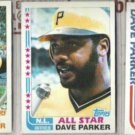 DAVE PARKER 1982 Topps #40, #343 AS + #41 In Action.  PIRATES