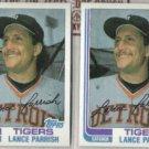 LANCE PARRISH (2) 1982 Topps #535.  TIGERS