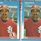 TONY PENA (2) 1987 Fleer Update #U-98.  CARDS