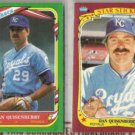 DAN QUISENBERRY 1986 + 1987 Fleer Star Stickers.  ROYALS