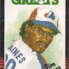 TIM RAINES 1985 Leaf Canadian Greats #252.  EXPOS