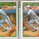 TIM RAINES 1988 Topps + O-Pee-Chee.  EXPOS