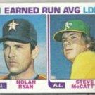 NOLAN RYAN 1982 Topps Leaders #167.  ASTROS