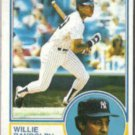 WILLIE RANDOLPH 1983 Topps #140.  YANKEES