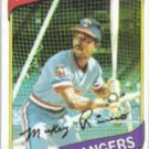 MICKEY RIVERS 1980 Topps #485.  RANGERS