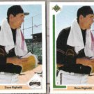 DAVE RIGHETTI (2) 1991 Upper Deck #778.  GIANTS