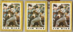 JIM RICE (3) 1987 Topps minis #44.  RED SOX