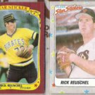 RICK REUSCHEL 1986 + 1988 Fleer Stickers.  PIRATES / GIANTS
