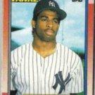 DEION SANDERS 1990 Topps Rookie #61.  YANKEES
