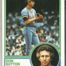 DON SUTTON 1983 Topps #145.  BREWERS