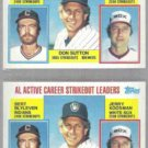 DON SUTTON (2) 1984 Topps #716 w/ Blyleven.  BREWERS